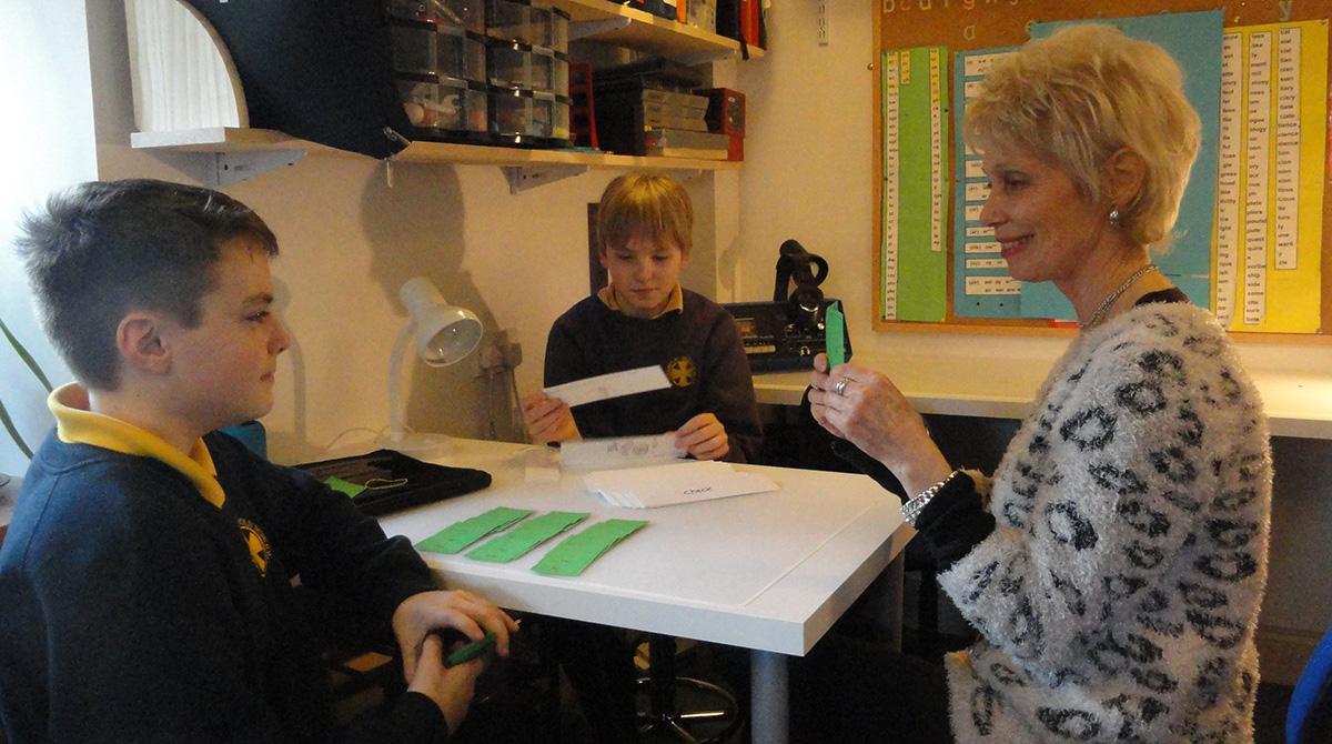 Christine Blance teaching pupil